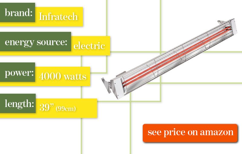 Best Outdoor PAtio Heater Infratech WD4024SS Electric Review