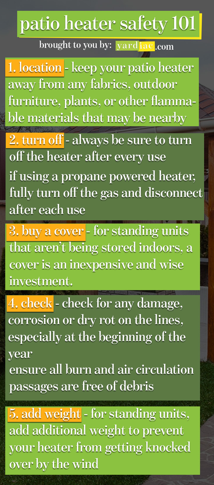 Best Outdoor Patio Heater Safety Tips