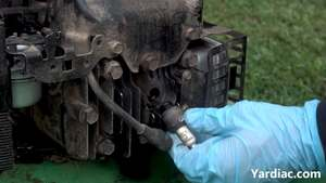 how to change lawn mower spark plug 4
