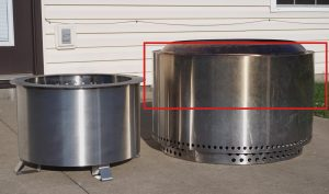 breeo vs solo stove stainless steel patina comparison