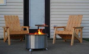 best portable fire pit breeo double flame stainless steel