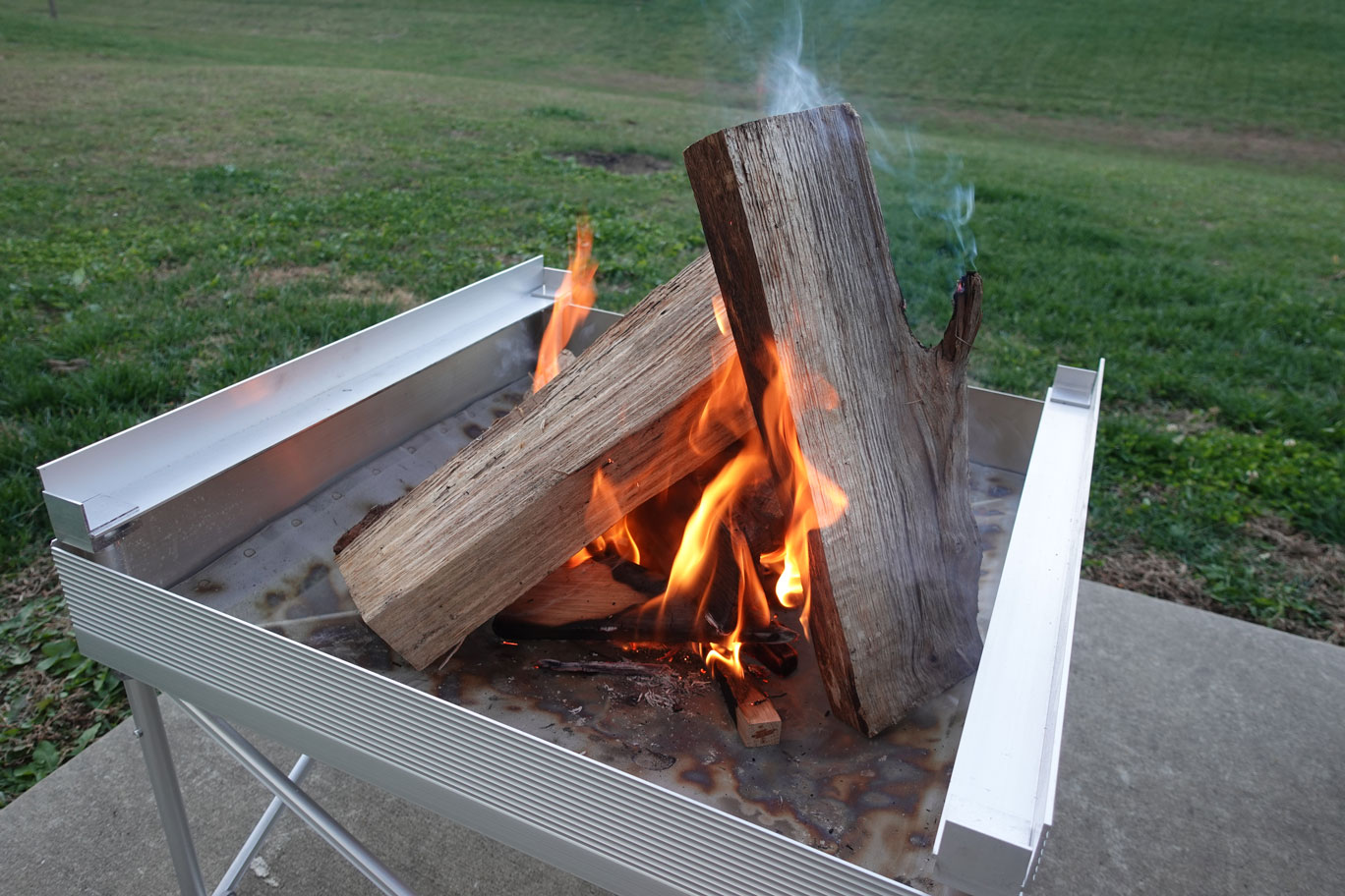 fireside outdoors portable fire pit grill
